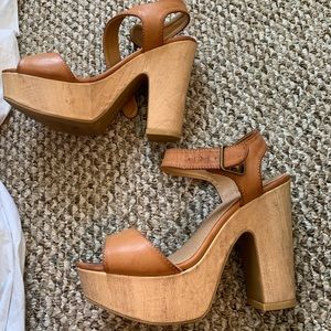 BAMBOO chunky heel